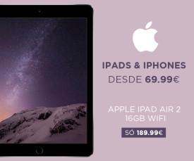 Imagem da campanha Atenção Apple desde 69,99eur