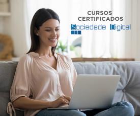 Imagem da campanha Cursos certificados com a Sociedade Digital desde 23,99€