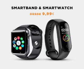 Imagem da campanha Best seller Smartband e Smartwatch desde 9.99 Eur.