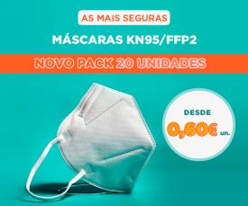 Imagem da campanha Máscaras KN95/FFP2 ao Melhor Preço 72H