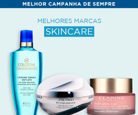Imagem da campanha Melhores Marcas Skincare aos Melhores Preços