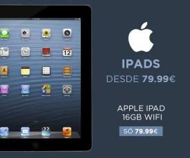 Imagem da campanha Apple Especial Ipads!
