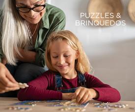 Imagem da campanha Diversão em casa! Puzzles e Brinquedos
