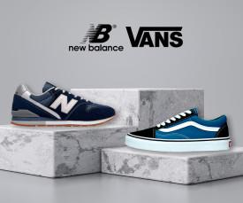 Imagem da campanha Vans e New Balance