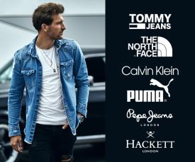 Imagem da campanha Tommy Jeans, North Face e Muito Mais...