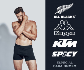 Kappa, KTM, All blacks muito mais- Campanha Especial para Ele!