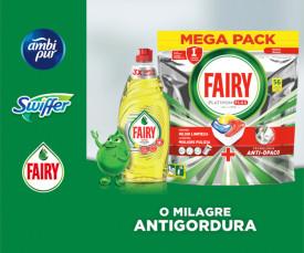 Imagem da campanha Fairy, Neoblanc, Swiffer, Lenor