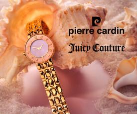 Imagem da campanha Pierre Cardin e Juicy Couture