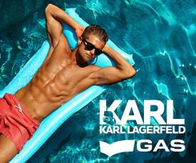 Karl Lagerfeld e GAS swim