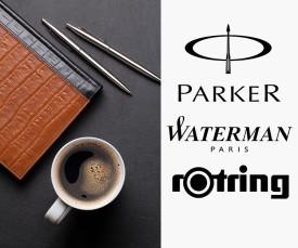 Parker, Rotring e Waterman