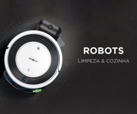 Imagem da campanha Robots que facilitam a sua vida