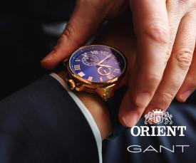 Imagem da campanha Gant, Orient & Police Relógios