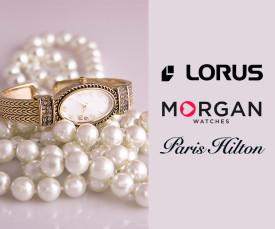 Imagem da campanha Lorus, Morgan e Paris Hilton