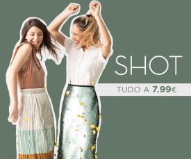 Imagem da campanha Shot TUDO A 7,99€ Entregas em 72H