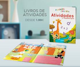 Imagem da campanha Diversão em casa, livros de actividades! desde 1.99eur