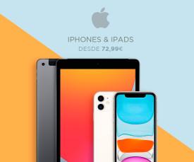 Imagem da campanha Apple Iphone e Ipads desde 74.99 eur