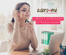 Imagem da campanha Aproveites os melhores cursos e workshops de maquilhagem com a Adorome!!!