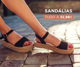 Imagem da campanha Especial Sandálias tudo 32.99€