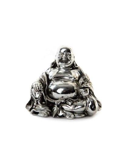 Figura Resina Buda Cromado