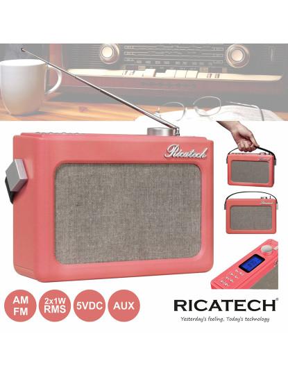 Rádio Retro Am/Fm Ricatech com 2 colunas