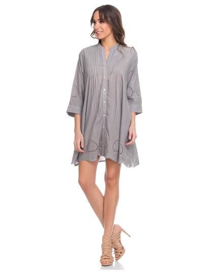 d4dc0bba8 Vestido Camisa Cinza