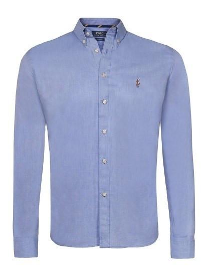 b387fc6bbf Camisa Ralph Lauren Lisa Homem Azul