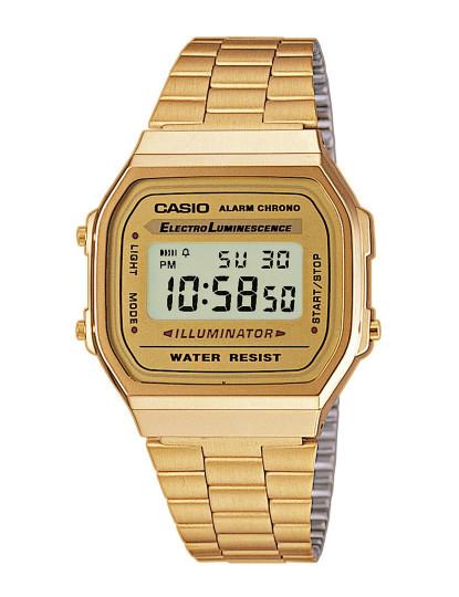 Relógio Casio Retro Vintage Unissexo Dourado