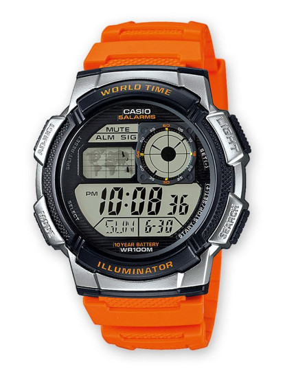 Relógio Casio Sports Homem Laranja
