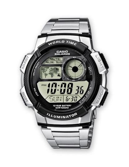 Relógio Sports Homem Prateado