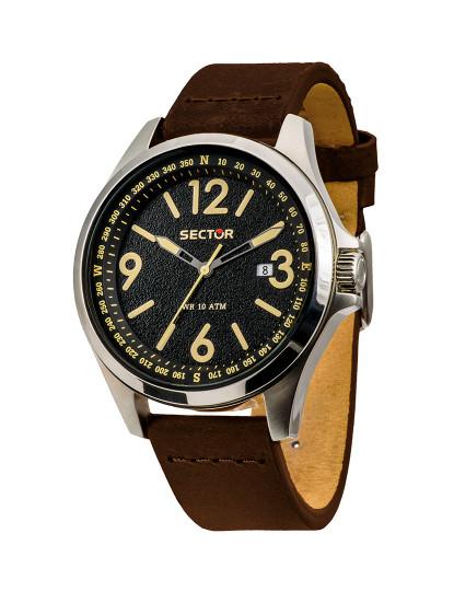 1a3a55838ff Relógio Sector 180 Preto e Castanho