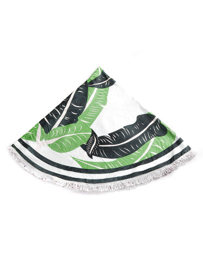 Toalha Circular Folhas