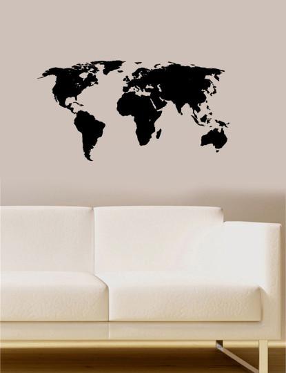 Adesivos Decorativos de Parede Mapa Mundo I