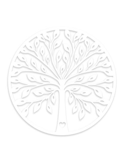 Decoração de Parede Madeira WD Branco