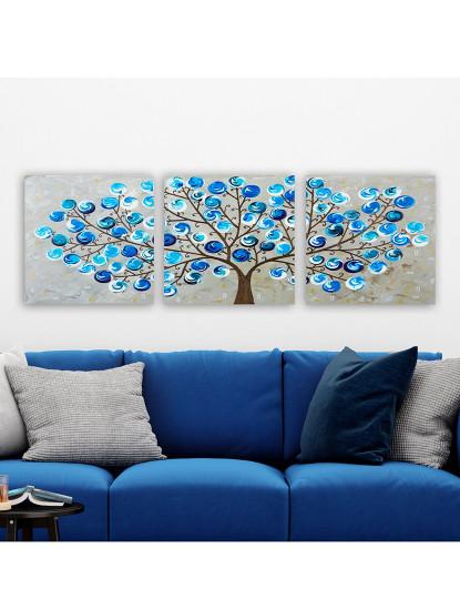 Pintura Tela Decorativa  WD Multicolor (3 Peças)