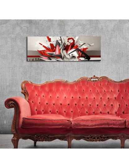 Pintura decorativa em tela com iluminação led Multicolor