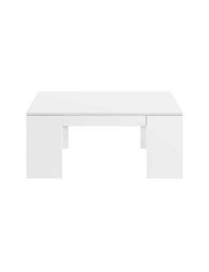 Mesa de Centro Forés Flow Branco Lacado