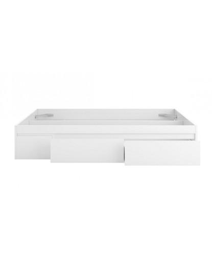 Cama Forés Bed c/ 4 Gavetas Branco