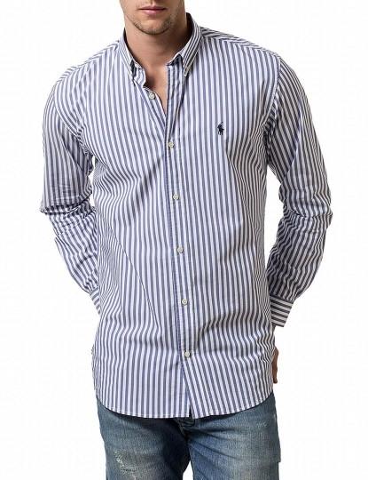 51f268cd33a9b Camisa Ralph Lauren Riscas Azul