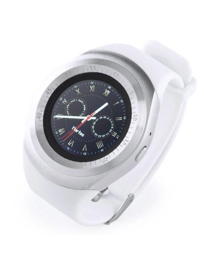 Smartwatch Bluetooth com Câmara Integrada e cinta TPU ajustável Branca