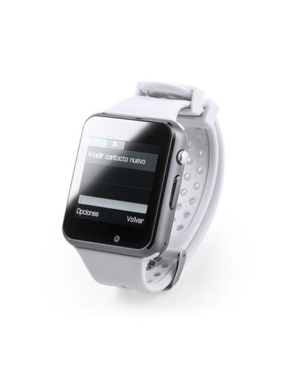 Smartwach Bluetooth com Câmara e bracelete em Silicone Branco