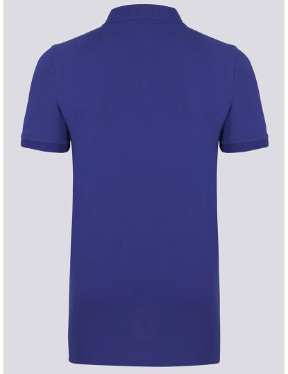 Pólo M. Curta Ralph Lauren Homem Azul Sax/Laranja