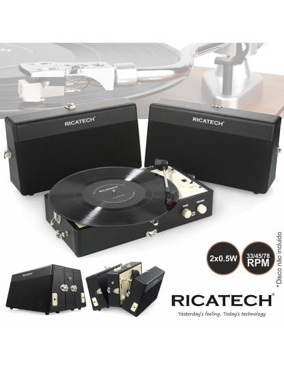 Gira Discos Vintage em forma de Mala Ricatech