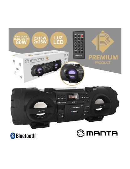 Rádio Portátil Digital Manta com 4 colunas, linha PREMIUM