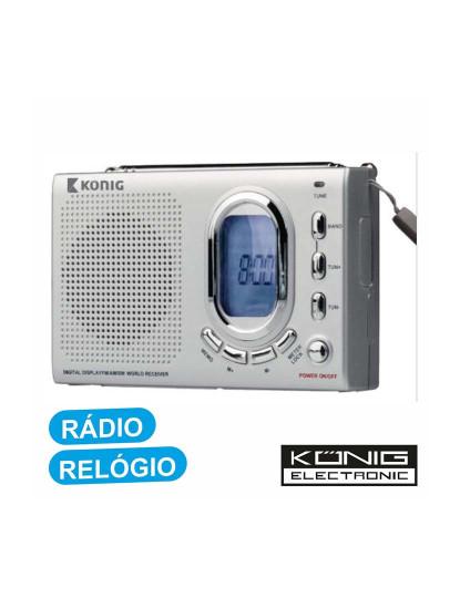 Rádio Portátil Digital KONIG PLL AM/FM/SW1-2