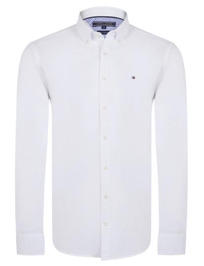 847693797ef Camisa Tommy Hilfiger Oxford Branca