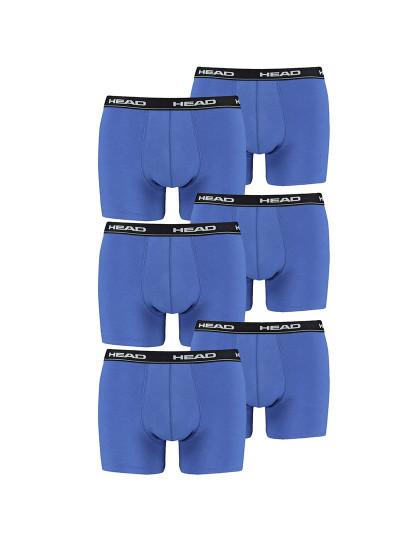 Pack 6 Boxers Head Azul - Cintura Preto