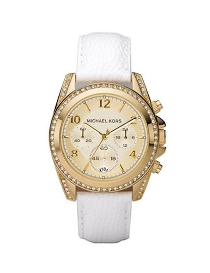 Relógio Michael Kors Blair Dourado e Branco Senhora