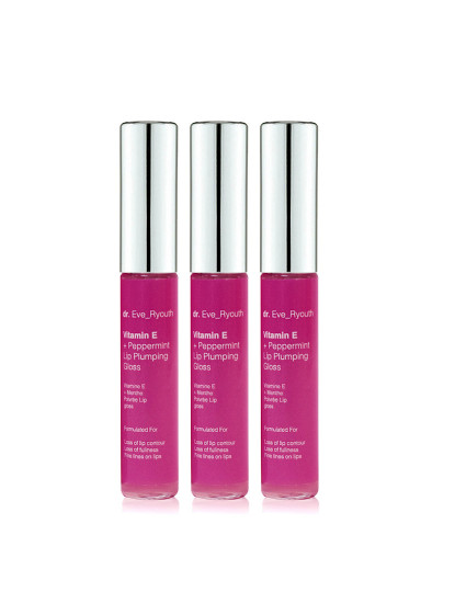 3 x Vitamina E e Pepples Lip Gloss 8ml