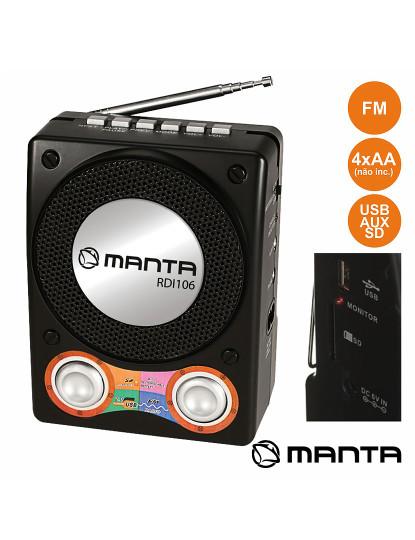 Rádio Portátil FM Stereo Compacto