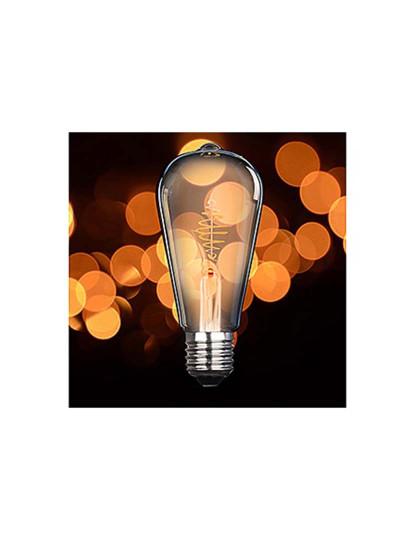 Lâmpada LED Dourada ST64 E27 2,5W Branco Extra Quente